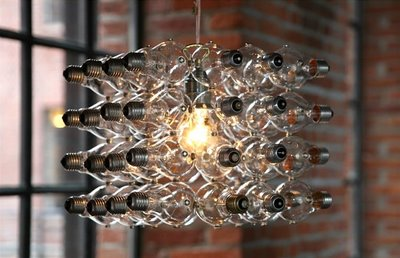 Hanging Lamp with discarded bulbs