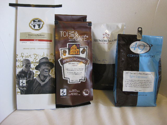Samples of coffee samples that I have sampled